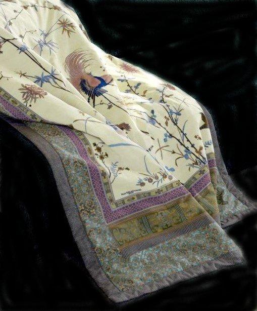bassetti plaid fong filigranes muster kuschelig weich 135 190 cm ebay. Black Bedroom Furniture Sets. Home Design Ideas